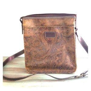 Brown Paisley Shoulder Bag